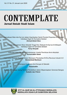 Cover Jurnal Contemplate